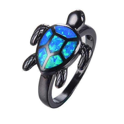 Las niñas joyería de moda bamos tortuga mejores anillos