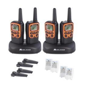 4 radios de dos vías midland t51vp3 plus