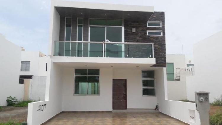 Casa nueva en venta en real del valle coto 8 en mazatlan