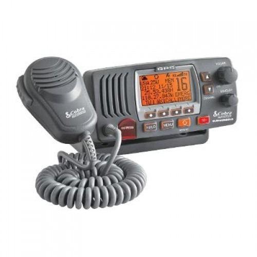 Cobra mr f77b radio vhf montaje fijo gps 25 watt clase-d