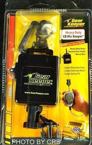 Heavy duty negro retráctil cb micrófono de radio percha -