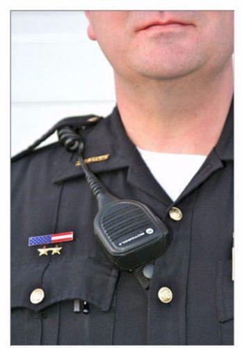 Microfono/bocina de solapa para radios portátiles motorola