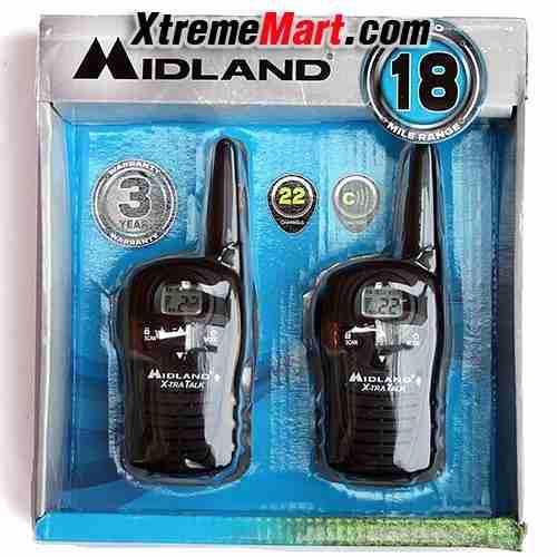 Midland lxt118 radios dos vias 18 millas 22 canales nuevos!