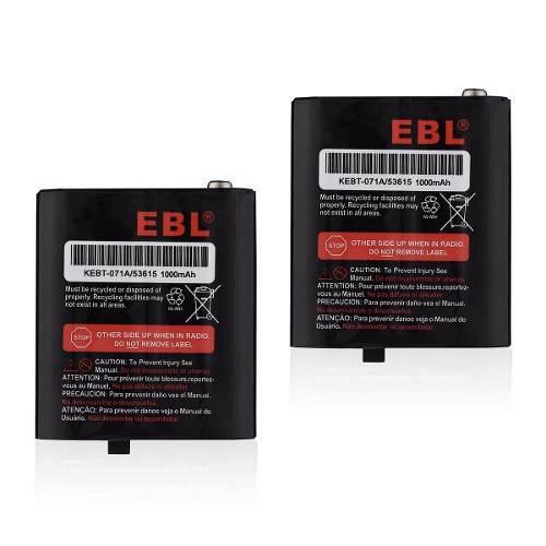 Pack 2 baterías radio motorola kebt-071 kebt650 envío