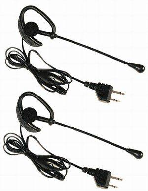 Par de headsets con ppt para oido para radios midland avp1
