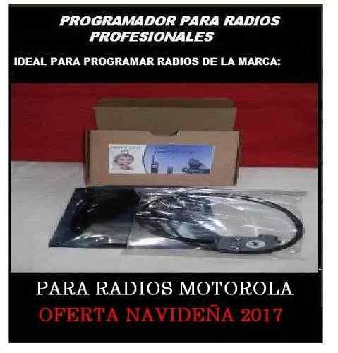 Programador via usb para radios motorola+software motorola