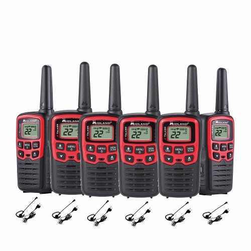 Radio de dos vías midland con alcance de 41 km 6 pzas