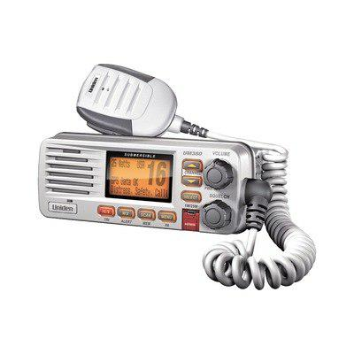 Radio movil marino vhf 25w, color blanco un380 uniden