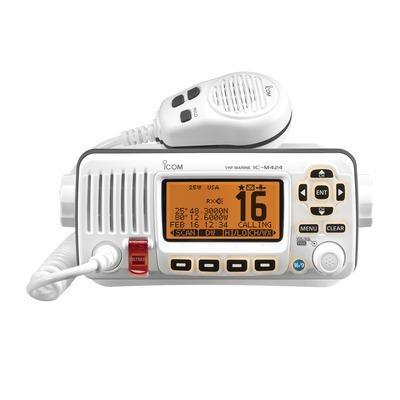 Radio móvil marino 25w, color blanco ic-m324/02 icom
