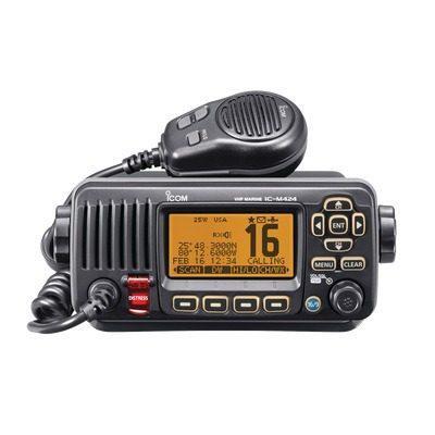 Radio móvil marino 25w, color negro ic-m324/01 icom