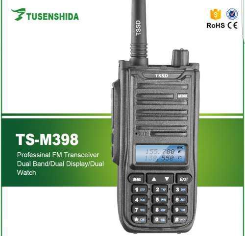 Radio ts m398 7watts dual band vhf/ uhf