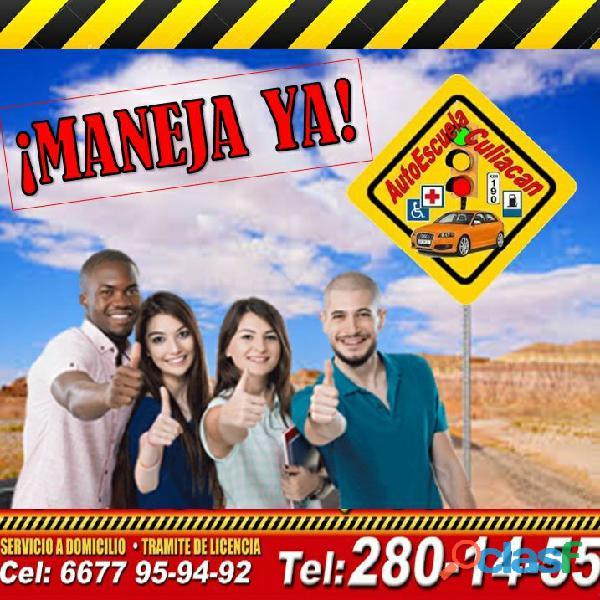 Clases de manejo en Autoescuela Culiacán aparta tu curso
