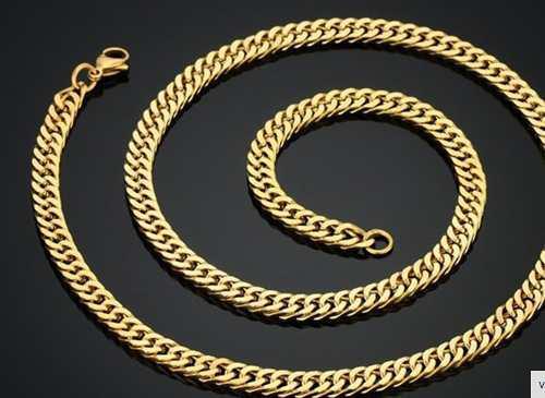 Boutique en ligne f2999 c04a9 Cadena Barbada 60 Cm X 7 Mm Hombre Laminado Oro Acero