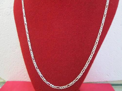 b90084c4b6ee Cadena fígaro caballero plata fina.925 4 mm y 65 cm en México ...