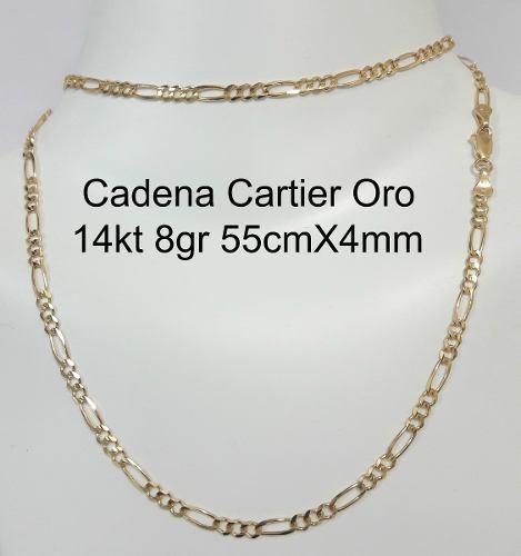 b06bb750591e Cadena Tipo Cartier Oro Macizo 14k 60cm Pesa 8.1gr 4mm