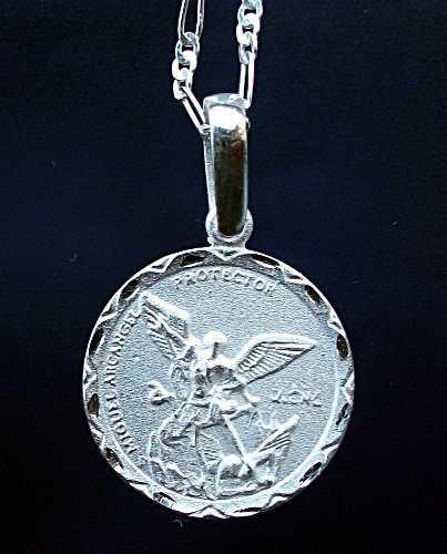 9f7ab8d95679 Cadena y dije medalla san miguel arcángel en plata ley.925
