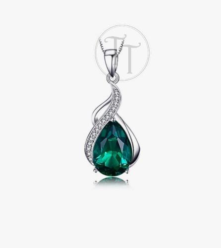 73e6c638ecf4 Collar esmeralda 2.70 ct plata esterlina 925 drop