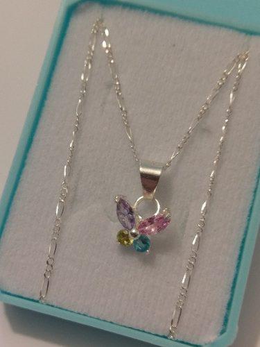 752d7fe83193 Collar Mariposa De Plata Original Con Cristal Swarovski