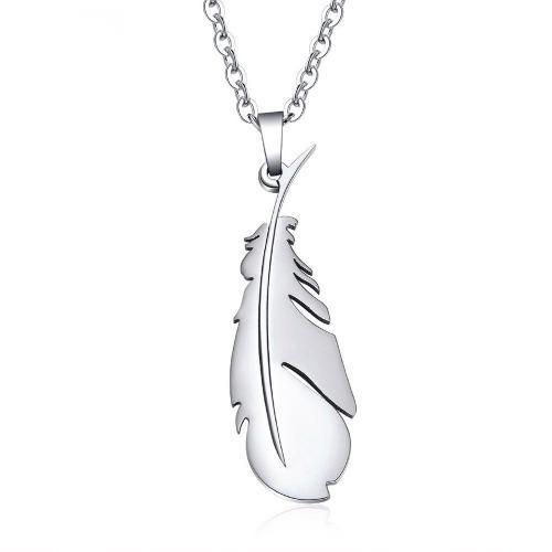 890a147f94b4 Collar pluma poeta de titanio + cadena + envío gratis