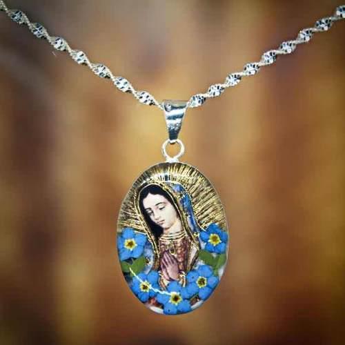 a28e8c5cdabb Dije colar ovalo virgen de guadalupe en plata tami joyeria en México ...