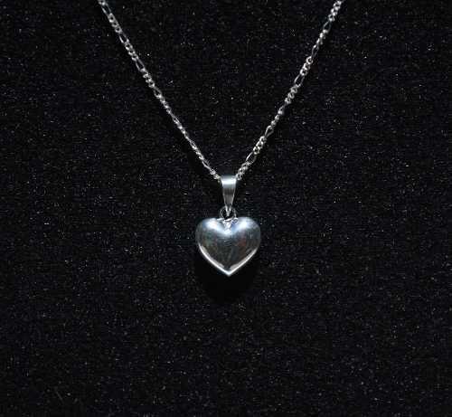 323804bc8c38 Dije corazon y cadena de plata taxco méxico mujer amor