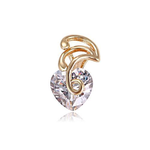 7d239a74f185 Dije corazón zirconia corte diamante oro 14k lam +obsequio