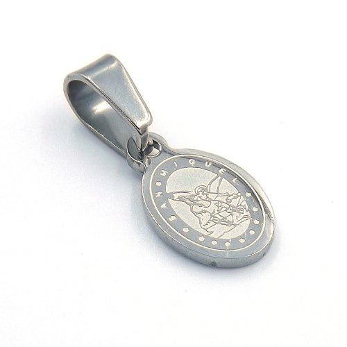 5f7c50258f7 Dije de acero plateado mini medalla san miguel arcangel en México ...