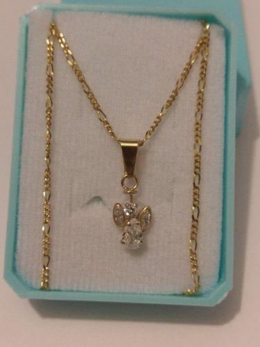 f72a97812e1c Dije de angel con cristal y cadena de oro laminado envio gra