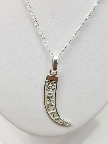 fdef116aba14 Dije de colmillo de la suerte plata ley.925 incluye cadena
