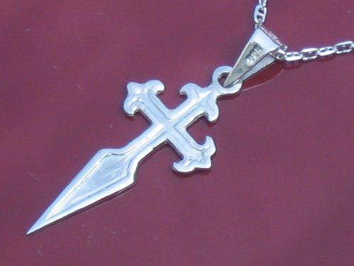 f7c7d216481d Dije de cruz santiago en plata sterling silver ley.925