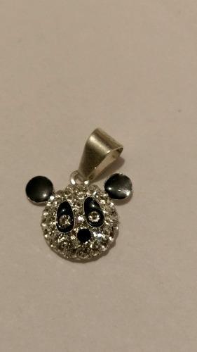 Dije de oso panda cristal de plata original 925 envio gratis