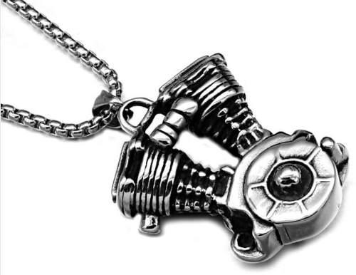 Motor v2 motocicleta chopper dije collar acero inox unisex