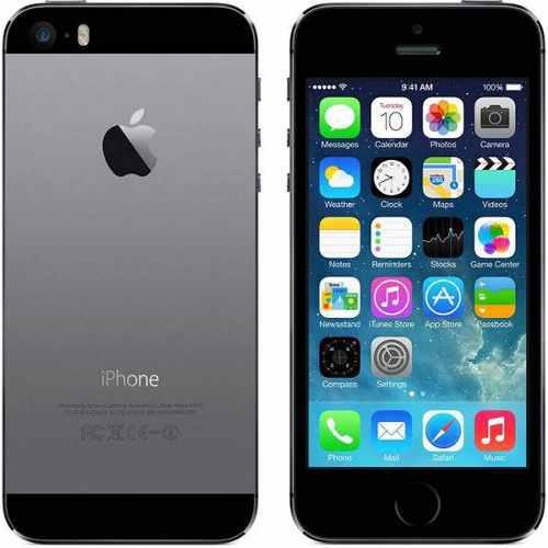 Iphone 5s 16gb desbloqueado reacondicionado gris con negro