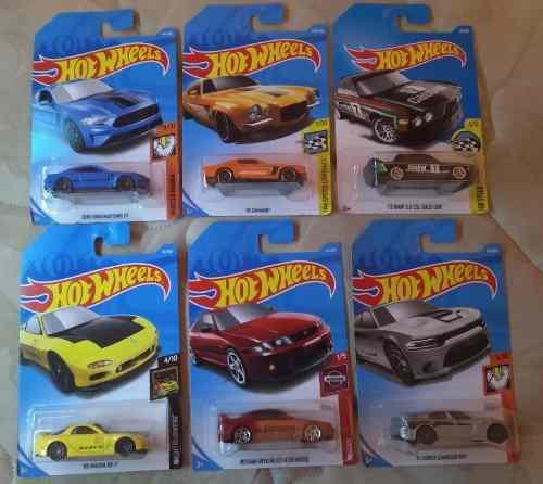 Lote 6 carritos deportivos hotwheels coleccionables (parte4)