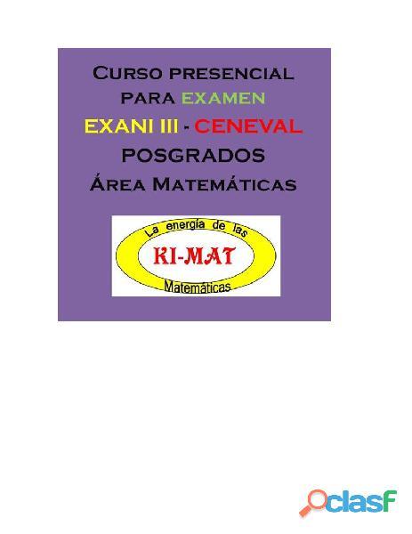 Cursos para examen exani iii ceneval