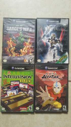 Cuatro juegos de gamecube, muy buenos.
