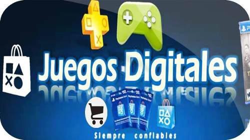 Juegos digitales ps3 y ps4