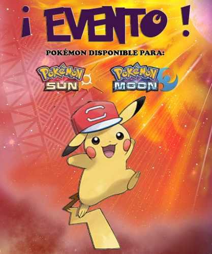 Pikachu gorra de ash   alola - evento - pokémon sol luna 68bbcad8744