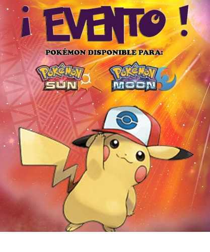 Pikachu gorra de ash   unova - evento - pokémon sol luna 5976b1c0663