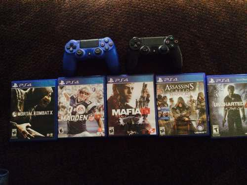 Playstation ps4 500 gb incluye juegos y controles