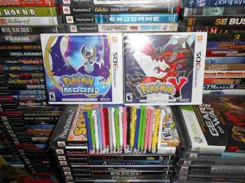 Pokemon y mas moon y 20 stylus nuevos de regalo,funcionando.