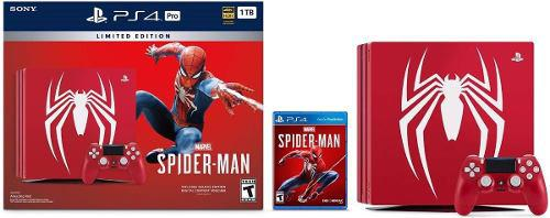 Ps4 consola pro spiderman 1tb marvel's spider-man edcion lim