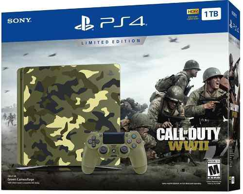 Ps4 slim edición especial call of duty wwii 1tb