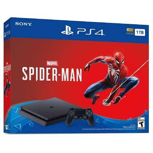Ps4 spiderman playstation 4 slim 1tb con juego marvel's