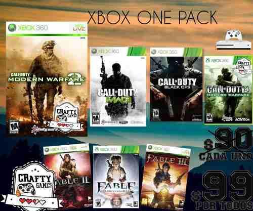 Paquete juegos mega xbox one online 7 juegos remate original