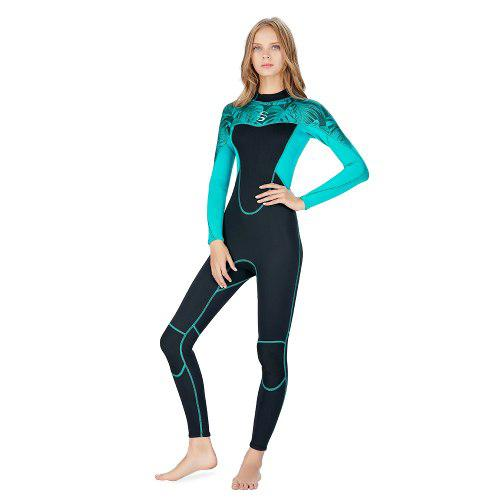 Traje buceo neopreno femenino largo mangas 2mm caliente surf