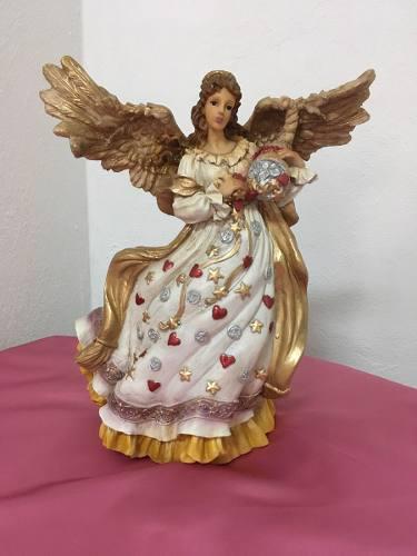 Angel abundia abundancia y prosperidad de resina