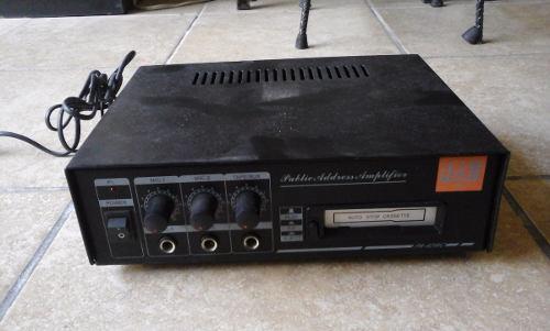 Amplificador perifoneo casa o coche j&b aux+2 microfonos
