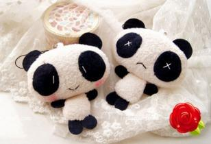 Llavero panda peluche cute kawaii oso mujer celular niños