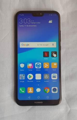 Huawei p20 lite, negro liberado, dual cam, estetica de 9